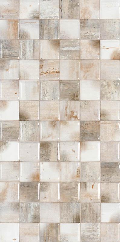 Tezgah Arasi Seramikler 30x60 Ice Wood Mozaik Beyaz